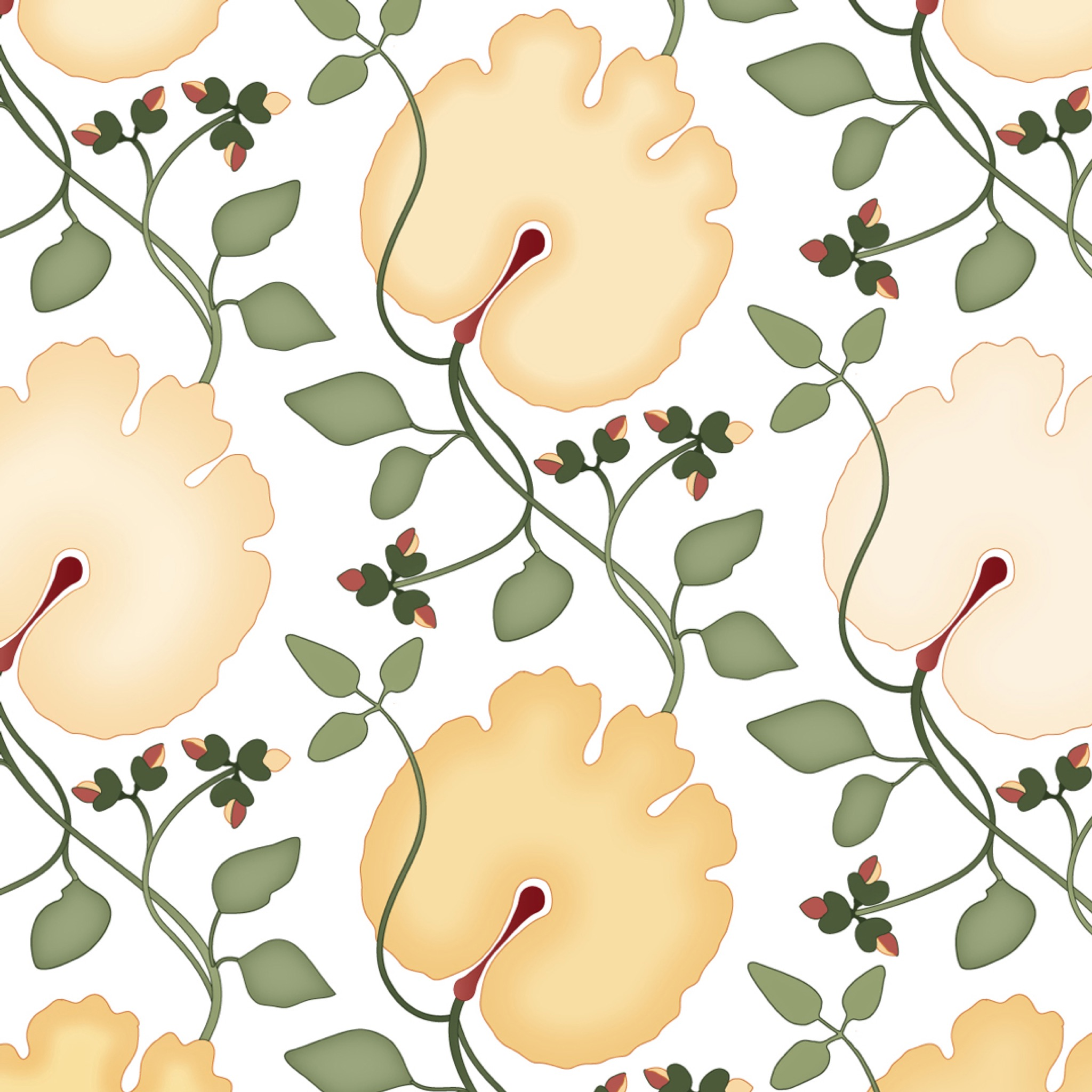 Bloodroot Large Fabric