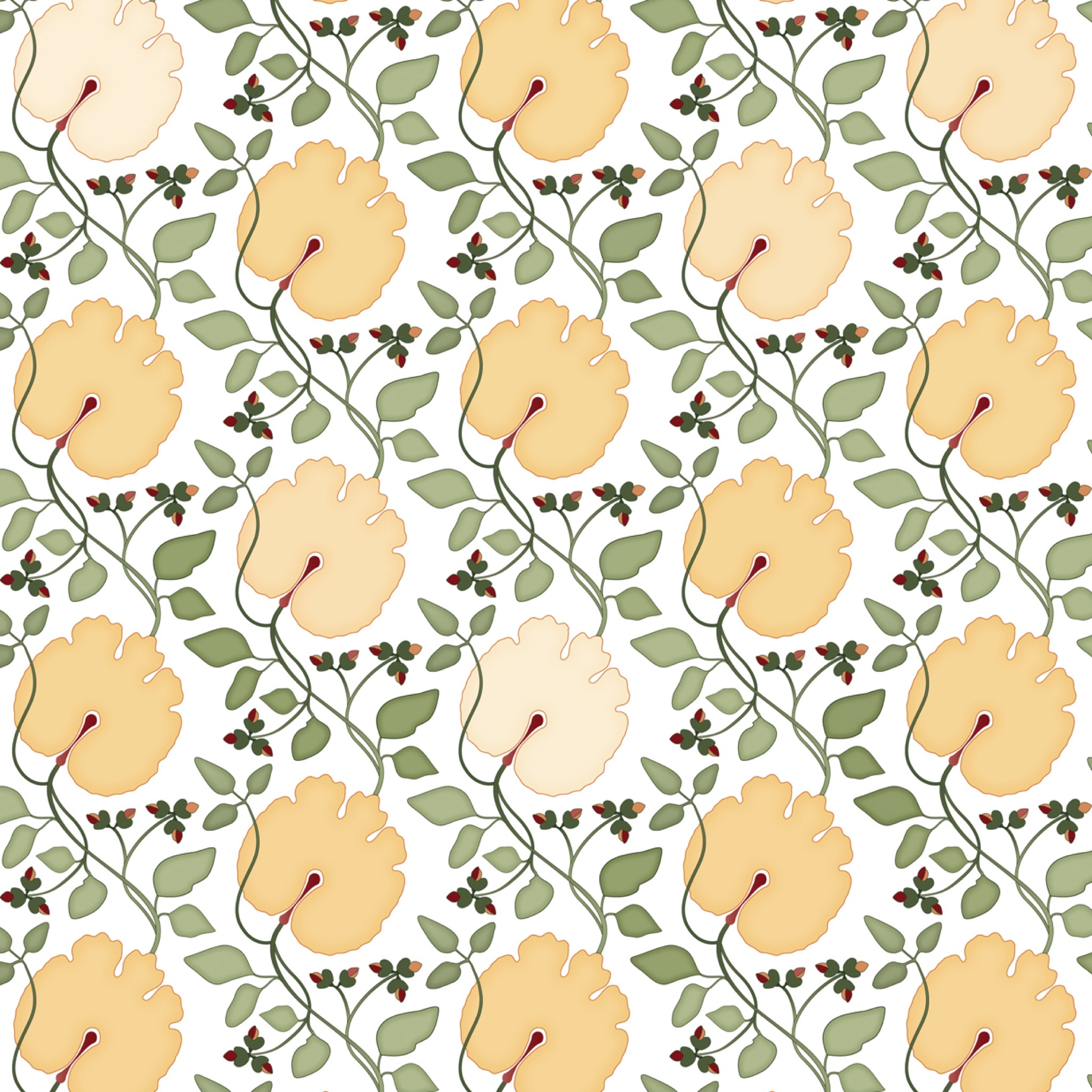 Bloodroot Small Fabric
