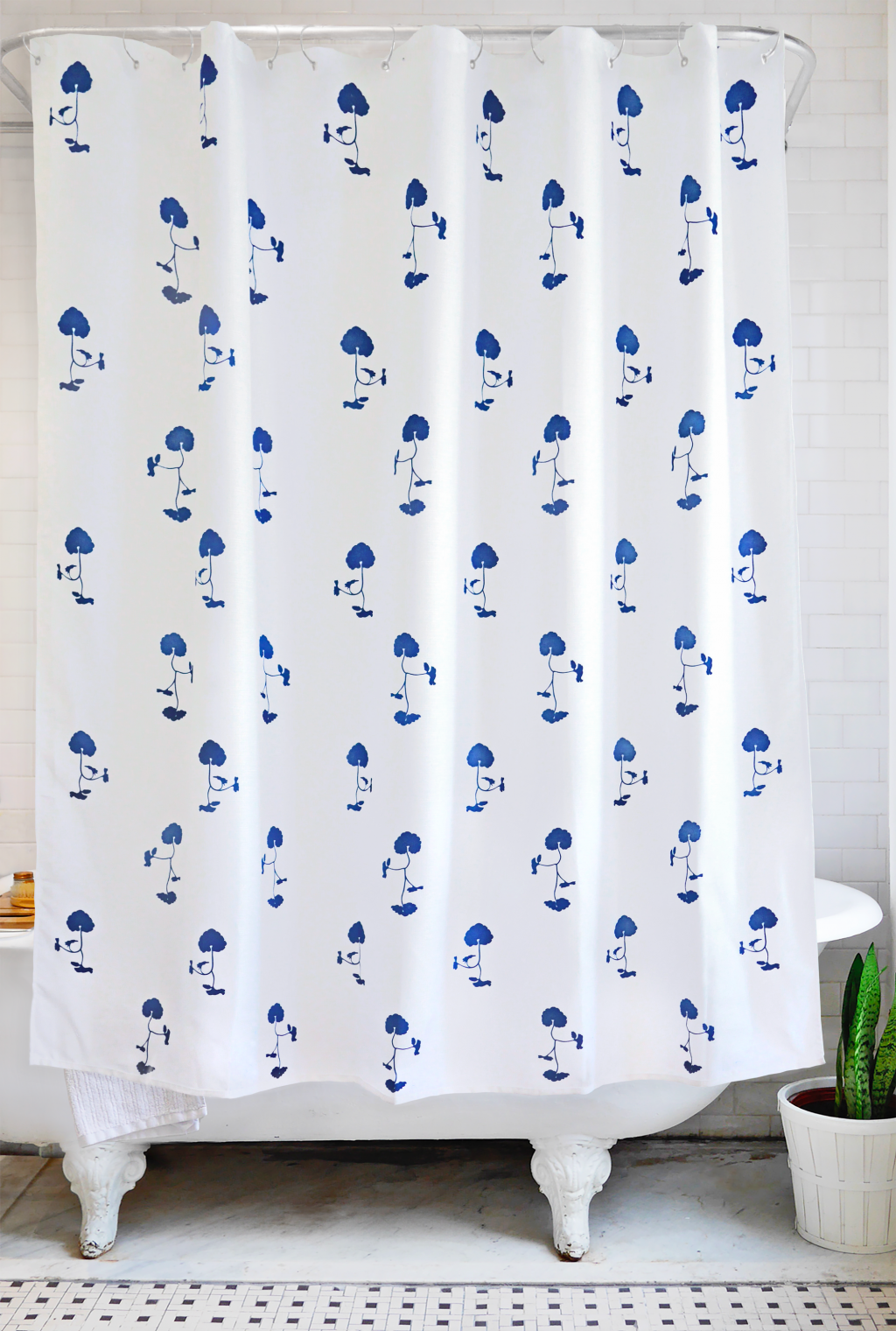 bathage + palampore: ground ivy shower curtain